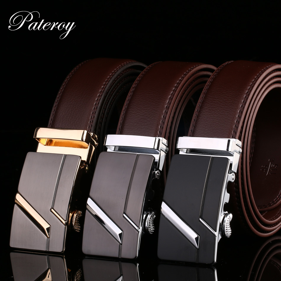 Men's Belt Male Waist Belts Genuine Leather Automatic Riem Cinturon Hombre Ceinture Homme Designer Cinto Masculino High Quality