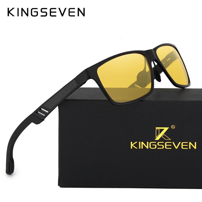 KINFSEVEN divat alumínium magnézium polarizált éjjellátó napszemüveg Férfi napszemüveg UV400 Vezető szemüveg oculos Shades