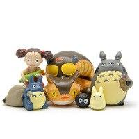 6 pz/lotto Il Mio Vicino Totoro Figura Anime Giapponese PVC Totoro Giocattolo Action Figure In Resina Decorazione Bambola