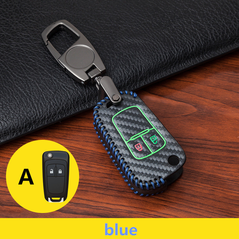 Car keychain key case for Buick para Chevrolet Cruze para OPEL VAUXHALL Insignia MOKKA Styling carbon Leather Hand knitting