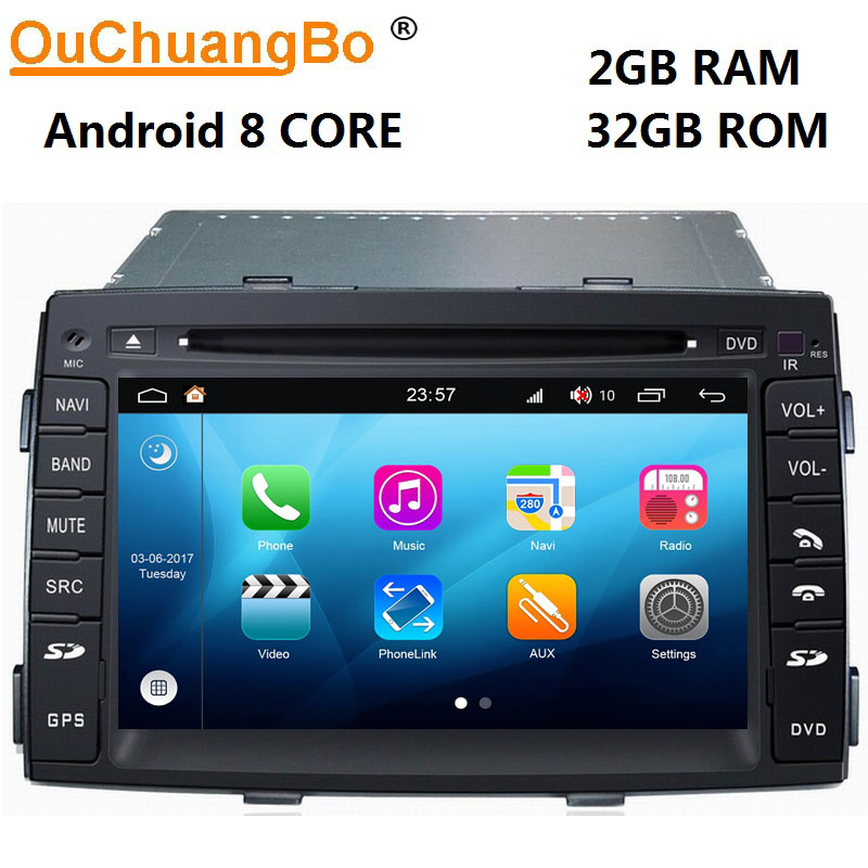 Ouchuangbo android 8.0 auto media player for Kia Sorento 2010-2012 with 8 Core radio gps navigation system 2GB+32GB