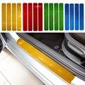 Porta do carro Pedal Bem-vindo Peitoril PVC Reflexivo Adesivos Para Skoda Citigo Kodiaq 4 pcs Acessórios Do Carro Cor de Doces