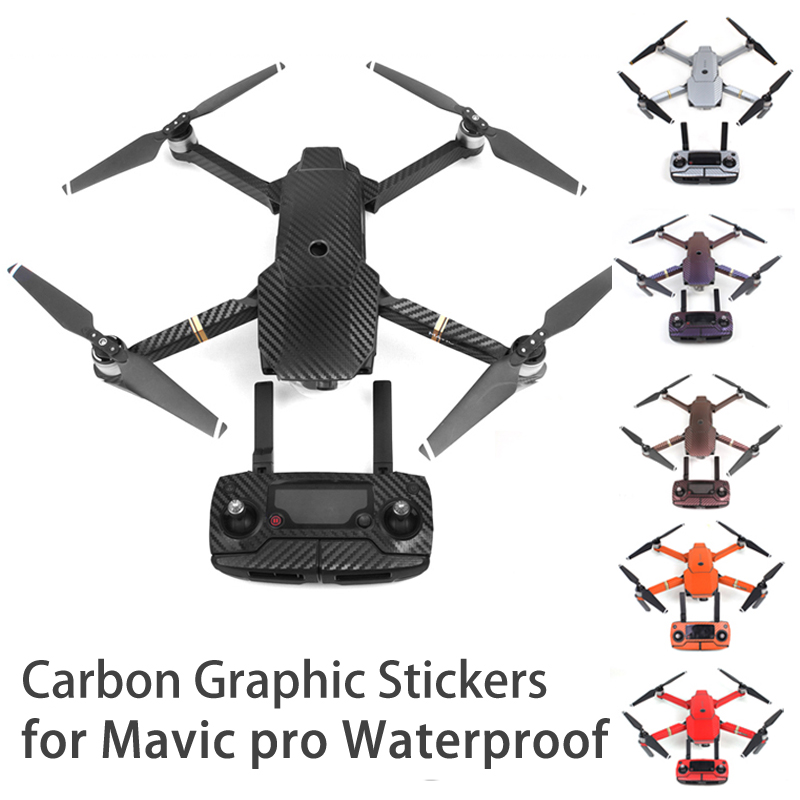 Mavic pro-klistermärken Vattentät kol grafiska huddekaler Wrap - Kamera och foto