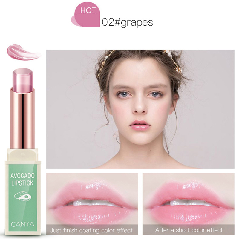 Jelly waterproof Lip Balm long-lasting non-stick cup lip Moisturizer lipstick women changing color plant lipstikcs cosemtic 5