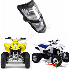 Papanda Motorcycle 12V Amber Light Dual Twin Headlights Custom Headlamp for Suzuki ATV Quadsport LT-Z400 Z400Z