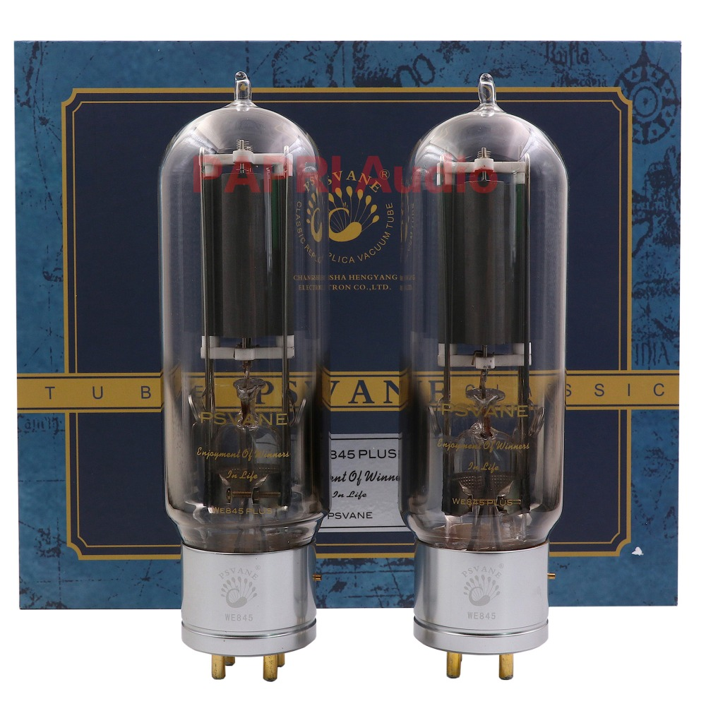 PAPRI 2PCS PSVANE WE845/PLUS Vacuum Tube Replace 845 tubes for Vintage Amplifier DIY Audio Factory Tested Matched Pair matched pair brand new psvane we310a vacuum tubes we310a 2pcs free shipping