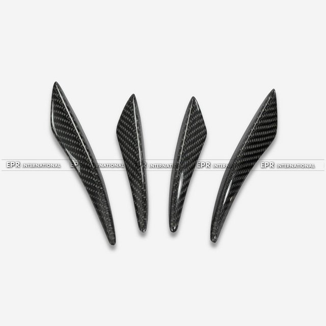 Carbon Fiber Front Bumper Canard 4pcs Car styling Auto Accessories Fit For Universal Bent Style