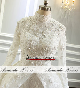 Image 3 - Amazing New Model Long Sleeve Muslim Wedding Dresses NS3374