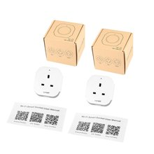LESHP 2pcs/set Single Port Wireless Mini Socket Smart Plug With USB Output(5V/1A) Wi-Fi Switch 100-240V