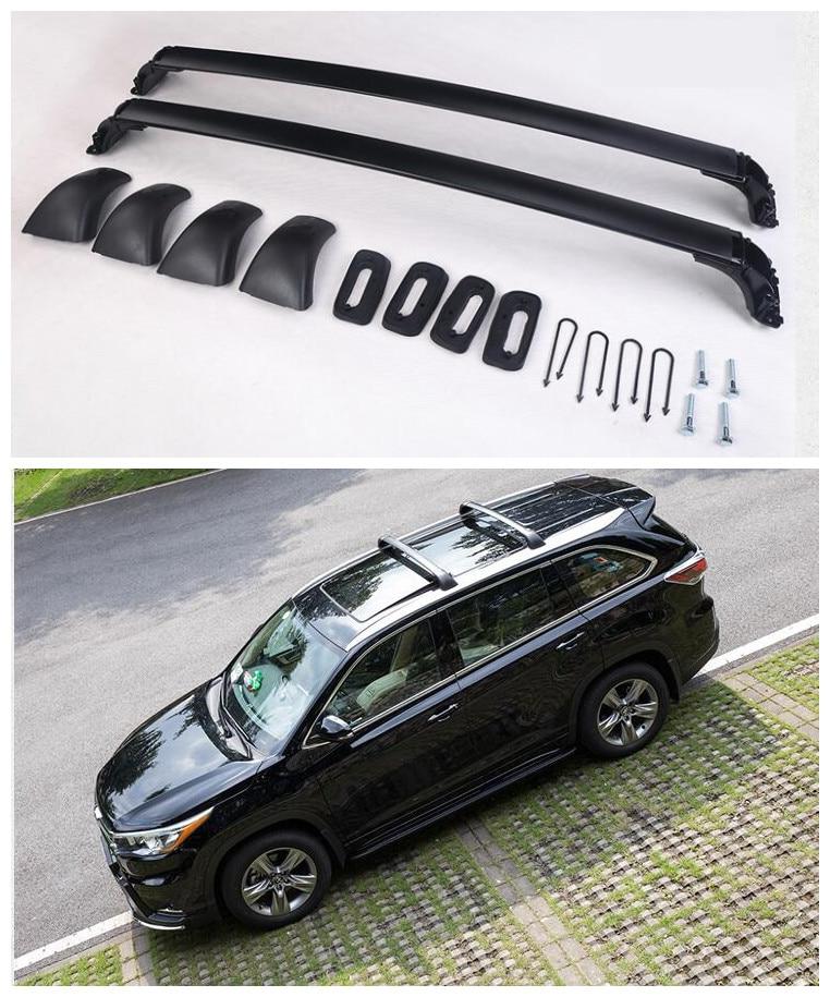 купить For Toyota Highlander 2015.2016.2017 Auto Cross racks Roof Rack High Quality Brand New Aluminium Luggage Rack Car Accessorie по цене 6541.36 рублей