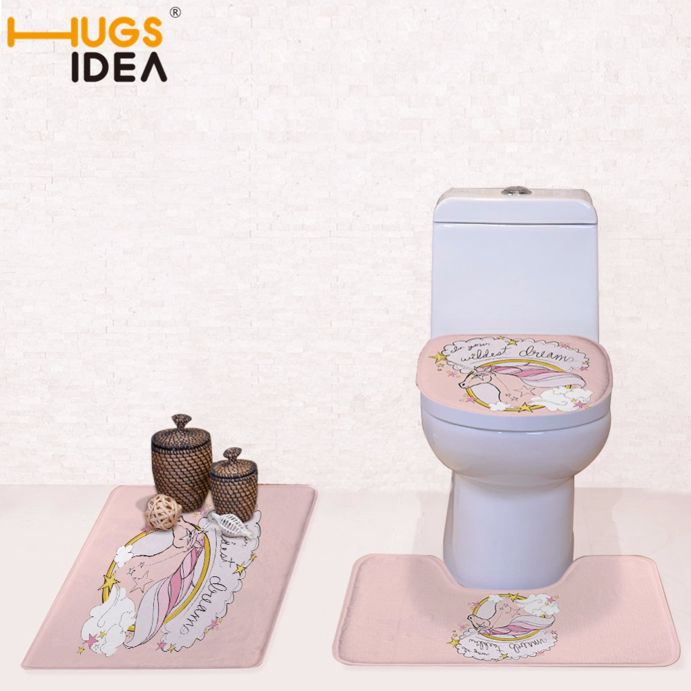 40cm Round Toilet Seat. HUGSIDEA Kid Like Unicorn Designer 3pcs pet Decorations for home Toilet Seat  Cover and Rug Washroom Set Covers in from Home