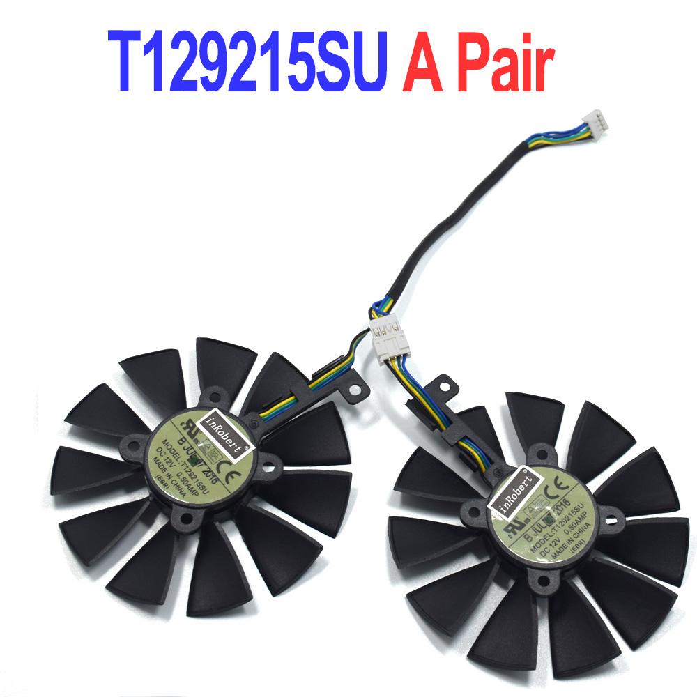 87MM T129215SU Cooler Fan Replacement For ASUS GTX 1060ti 1060 1070 RX 470 570 580 Graphics Card Cooling Fans image