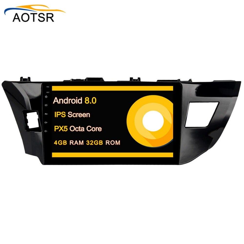 10.2 Android 8.0 Voiture GPS Radio Lecteur autoradio pour Toyota Corolla 2014 2015 2016 avec OCta Core 4 gb + 32 gb Autostereo Multimédia