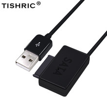 TISHRIC USB 2.0 to SATA 7+6 Cable Converter External Optical Drive Adapter For Laptop CD-ROM DVD With LED(China)