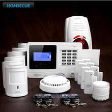HOMSECUR Pet Friendly Wireless GSM Autodial Burglar Alarm System+Red Flash Siren