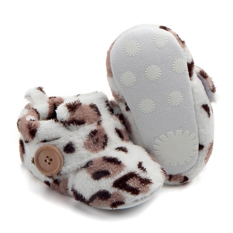 MUQGEW Lovely Newborn Shoes Toddler First Walkers Winter warm Baby Round Toe Flats Soft Slippers Shoes Tenis Infantil