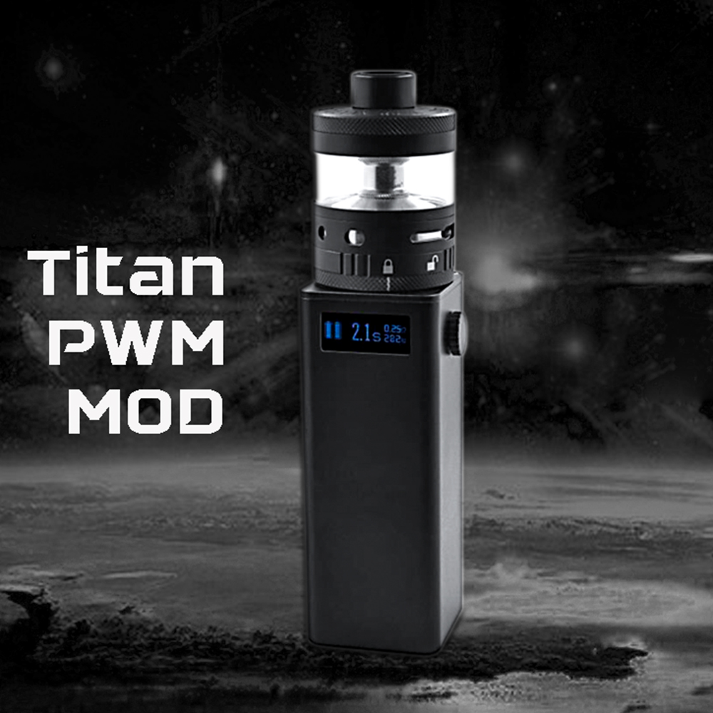 Original Steam Crave Titan PWM VV Box MOD Powered By Four 18650 Cells Max 300W Huge Power Best for Tanks of Huge Diameter Vape
