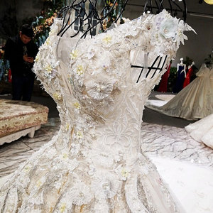 Image 3 - AIJINGYU Wedding Formals Indonesia Bridal With Sleeves Ball Gown 2021 Chinese New Wedding Dress