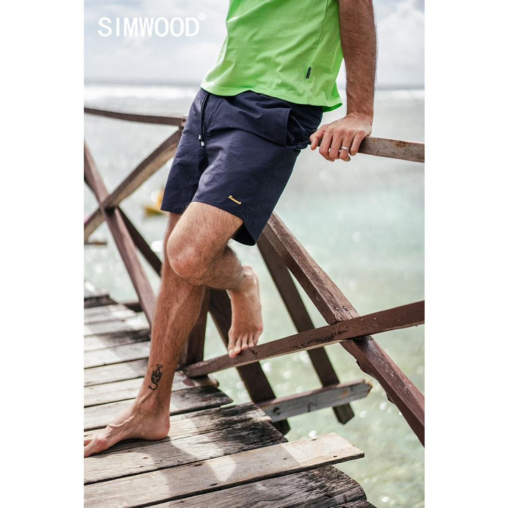 SIMWOOD 2020 Summer New Holiday Beach Shorts Men Drawstring Loose Casual  Letter Embroidery Shorts 190292