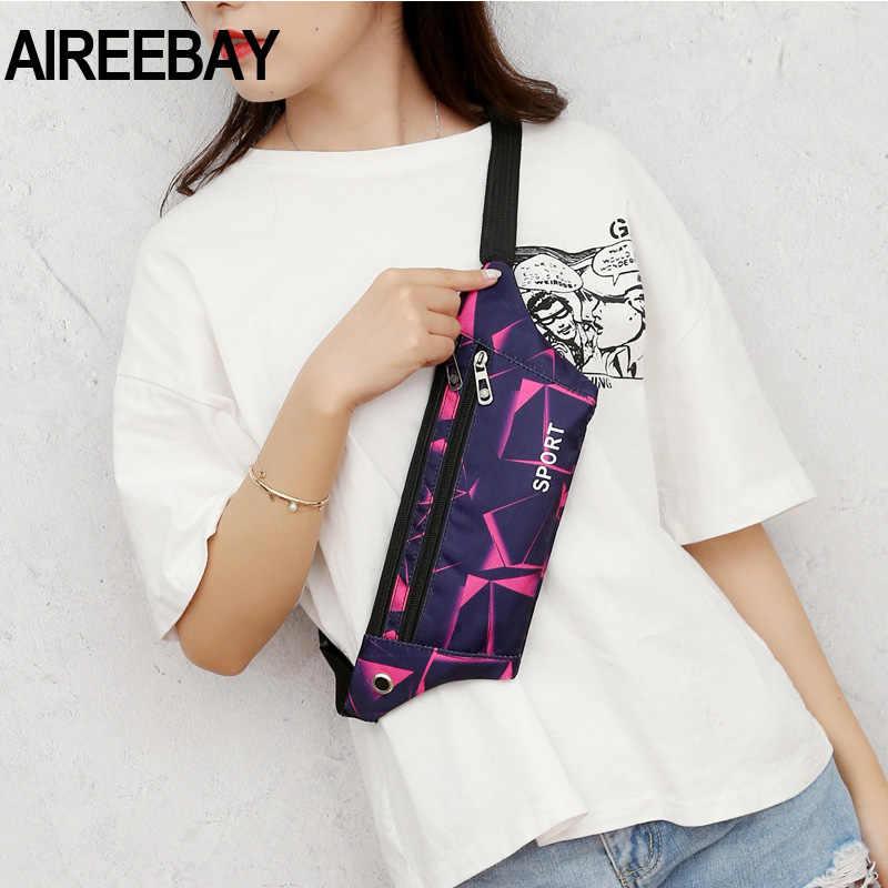 AIREEBAY النساء حزمة مراوح الموز الخصر حقيبة العلامة التجارية الجديدة حقيبة للفتيات حزام الخصر حزمة صغيرة حقيبة صدر للرجال الهاتف الحقيبة حقيبة البطن