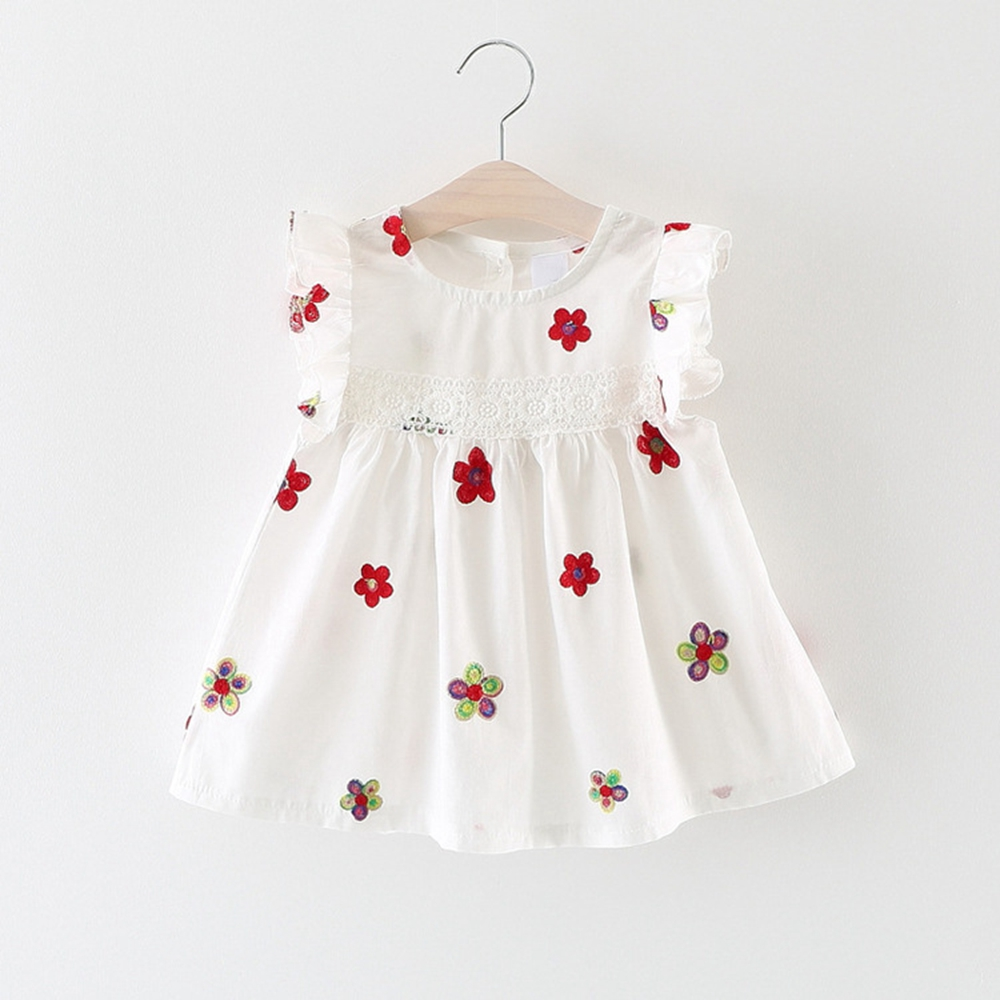 6M-3T Baby Girls Dress Floral Printed Kids Clothes for Summer Bebe Clothing Infant C Tank dress 9 12 18 24