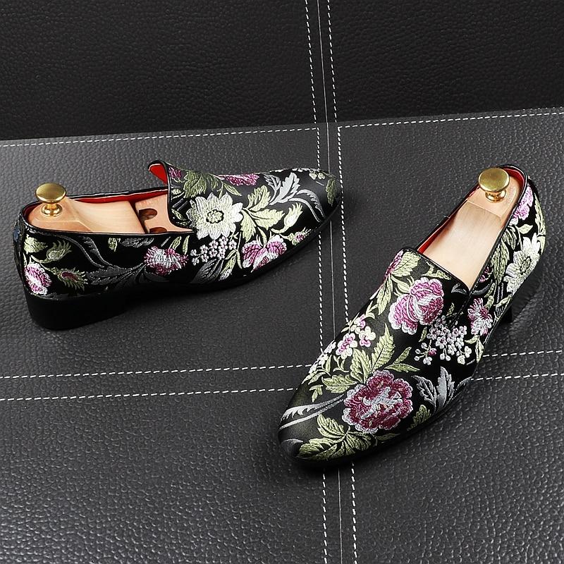 Pé Flor De 1 Casamento Do Festa Finalistas Apontado Calçados Homens Oxford Apartamentos Moda Baile Sapatos Para Dedo Vestido Masculinos O Desenhador Cavalheiro 8fnXOWqn1E