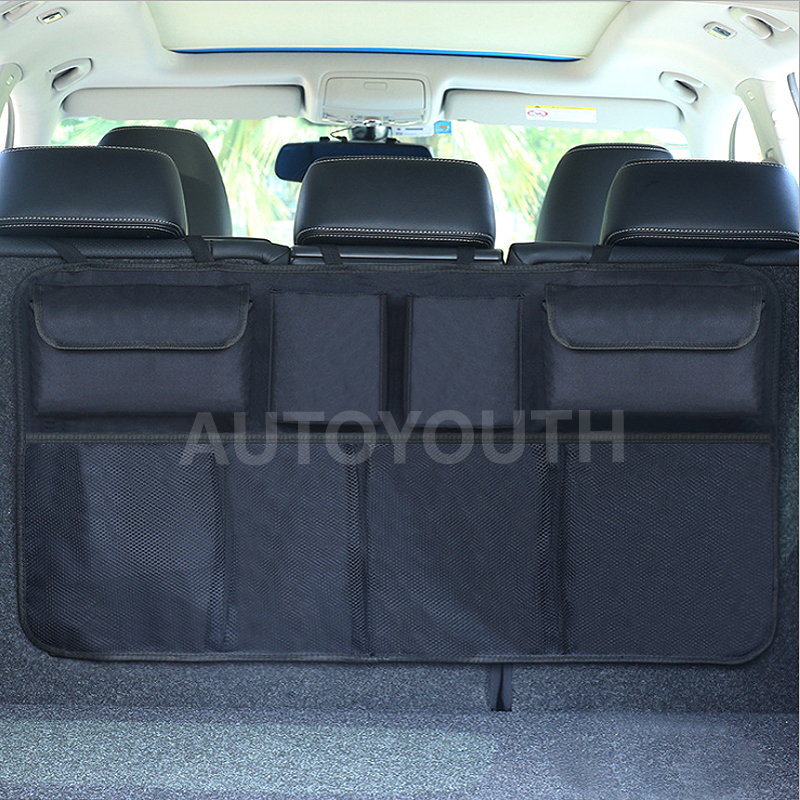 Image 5 - Car Trunk Organizer Adjustable Backseat Storage Bag Net High Capacity Multi use Oxford Automobile Seat Back Organizers Universal-in Stowing Tidying from Automobiles & Motorcycles