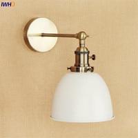 IWHD 화이트 황동 레트로 벽 조명 설비 다 이닝 룸 4W LED 에디슨 계단 빛 산업 빈티지 팔 벽 램프 Lamparas|LED 실내용 벽 램프|   -