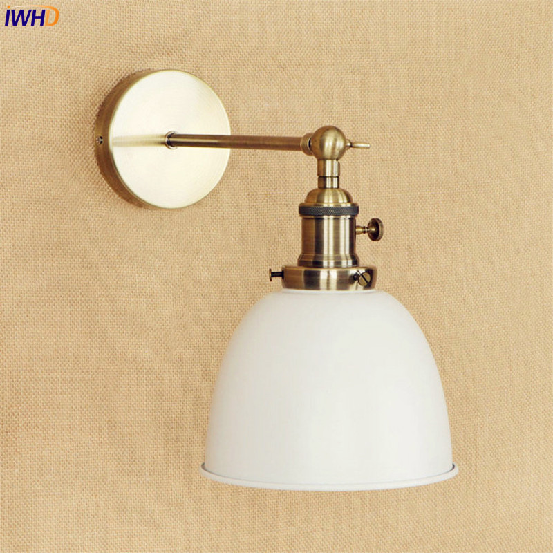 IWHD White Brass Retro Wall Lights Fixtures Dinning Room 4W LED Edison Stair Light Industrial Vintage Arm Wall Lamp LamparasIWHD White Brass Retro Wall Lights Fixtures Dinning Room 4W LED Edison Stair Light Industrial Vintage Arm Wall Lamp Lamparas