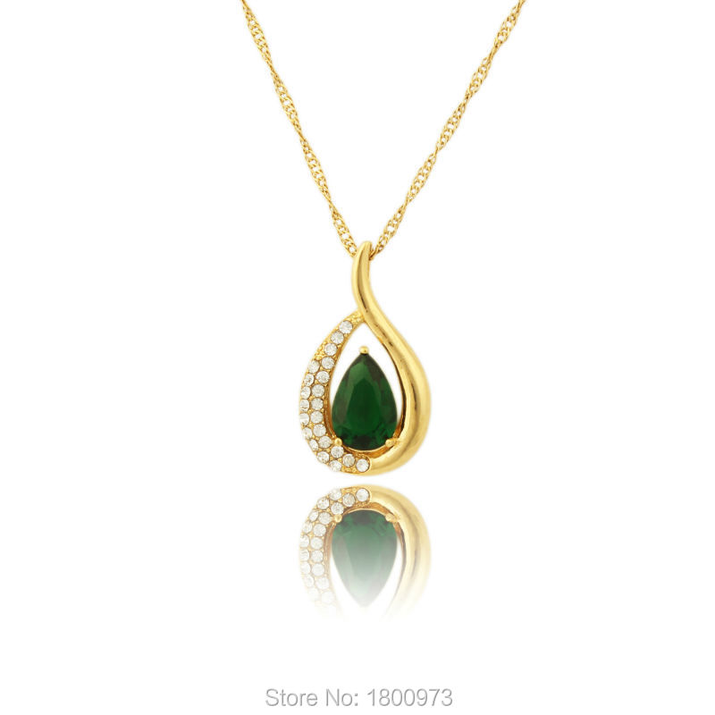 Latest New Trendy Women / Girl Fashion Jewelry 18K Real Gold Color ...