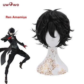 Ren AmamiyaJoker Wig ProtagonistPersona 5 28 CM 11 Inch Black Short  Heat Resistant Synthetic Hair ProtagonistPersona 5 игрушки из икеи моль