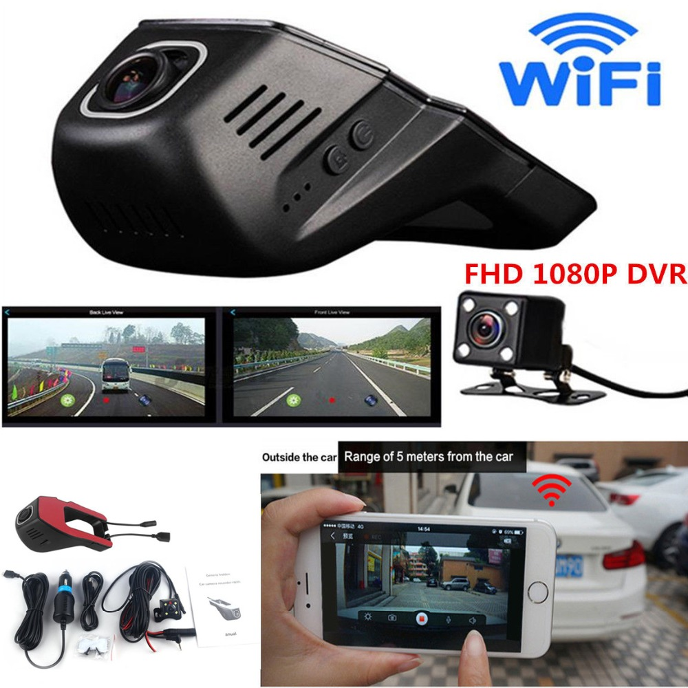 Full HD 1080P Invisible Wifi Car SUV DVR Video Recorder Dual Lenses Camera G-Sensor Motion Sensor Automobile Data RecorderFull HD 1080P Invisible Wifi Car SUV DVR Video Recorder Dual Lenses Camera G-Sensor Motion Sensor Automobile Data Recorder