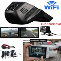 Full HD 1080P Invisible Wifi Car SUV DVR Video Recorder Dual Lenses Camera G Sensor Motion Sensor Automobile Data Recorder