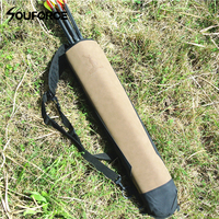 58x13cm Super Fiber Arrow Quiver Pure Leather Arrow Bag To Hold Arrows For Outdoor Archery Bow
