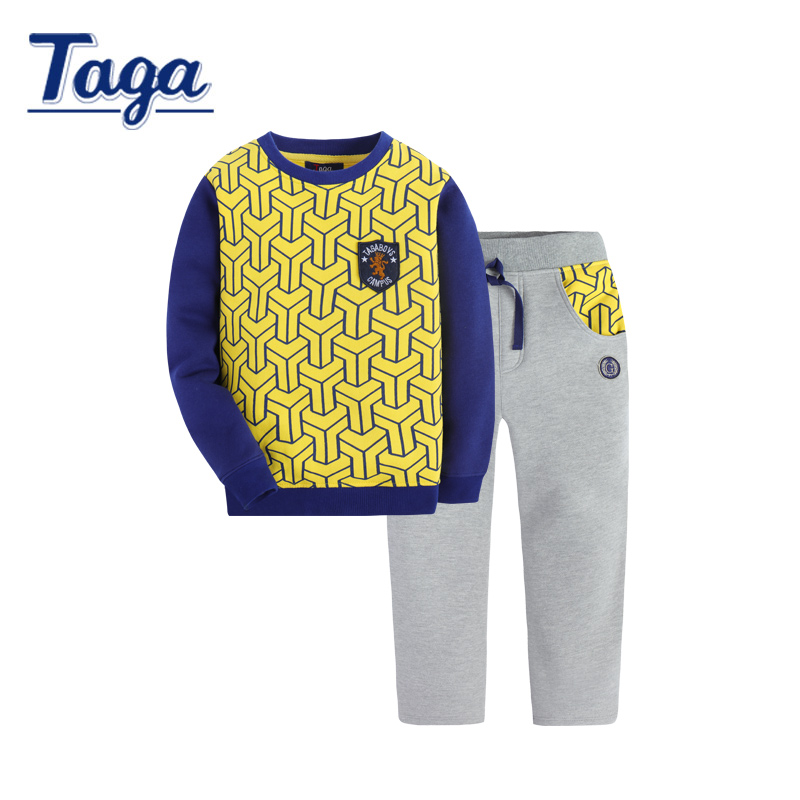 TAGA 2017 Baby Boys Clothing Set New Spring Autumn Multi-color long sleeve t-shirt casual pants 2pcs suit kids clothes Outfits autumn boys clothing set baby boys 3pcs set outfits black jacket long sleeve t shirt denim long pant children clothes boys 4