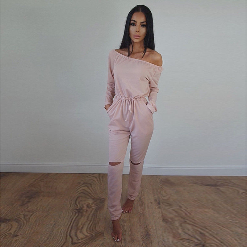 Lady jumpsuit sexy 2017 summer fashion new product will be in high street style elegant long sleeve combo suit