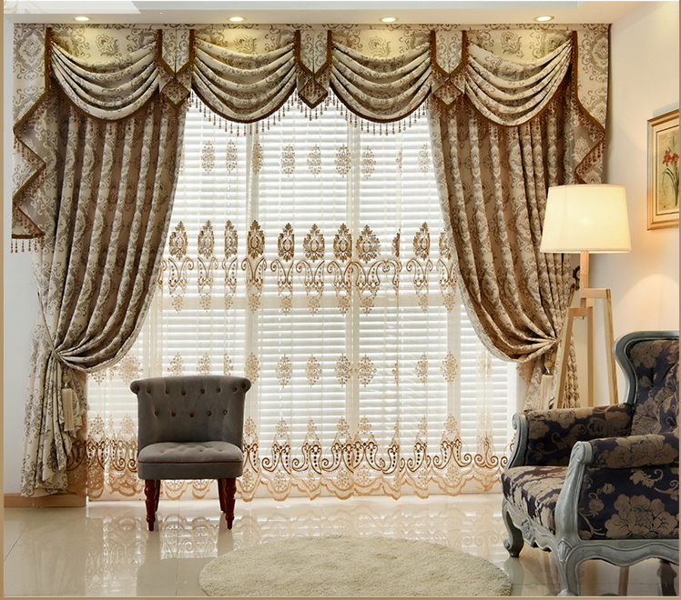 Aliexpress.com : Buy New Arrival European Luxury Curtain Bay Window  Jacquard Beautiful Valance Curtains Cortina For Living Room Can Be  Customize From ... Part 39