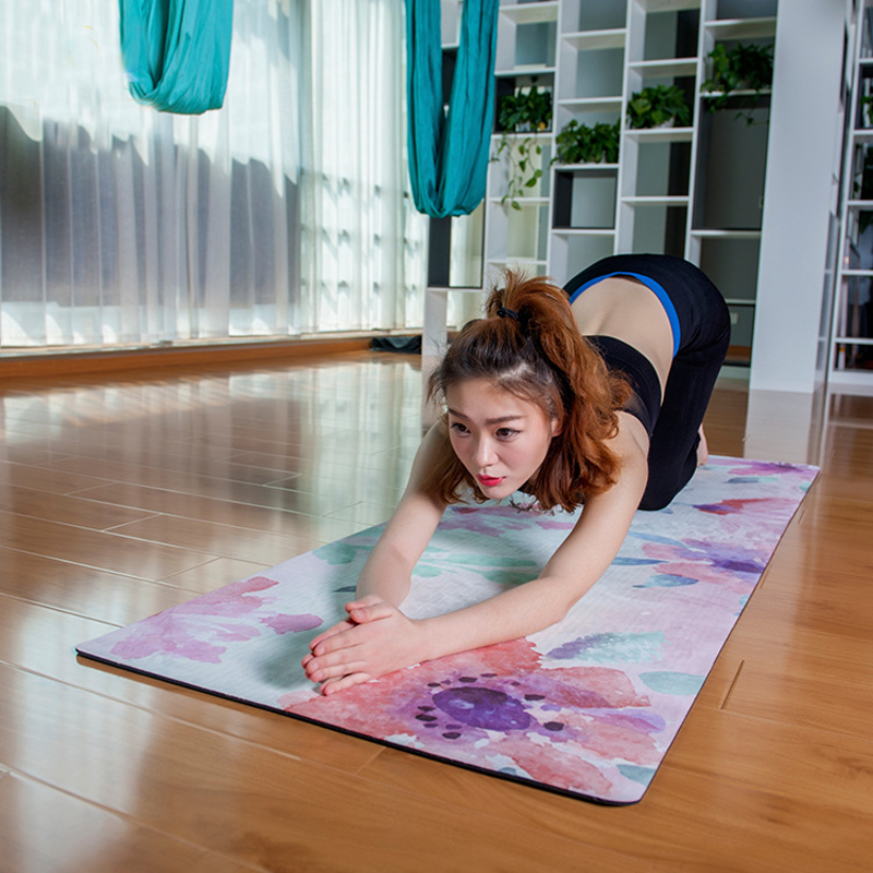 Natural Rubber 5mm Thick Slip-resistant Yoga Mats yoga blanket Folding Fitness Mat High Temperature Suede Travel Printing eva thick aluminum yoga mat