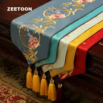 Classic Noble Table Runner Cloth Flower Pattern Long Table Mats Tablecloth / Tea Ceremony Accessories Decor Placemat Bed Flag