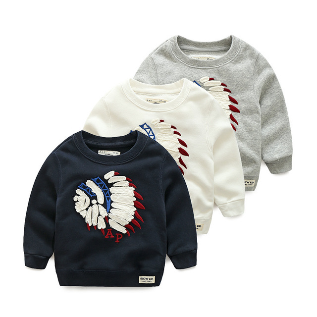 2016 Spring Autumn Kids Clothes T-shirts For Boys Child Shirt Teen Children Cotton Cartoon T Shirts Fashion New Sweatshirt