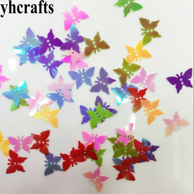 20gram/Lot Milk Butterfly With Hole Sequin.Craft Material Kindergarten Arts And Crafts Intelligence Creative Activity Item OEM