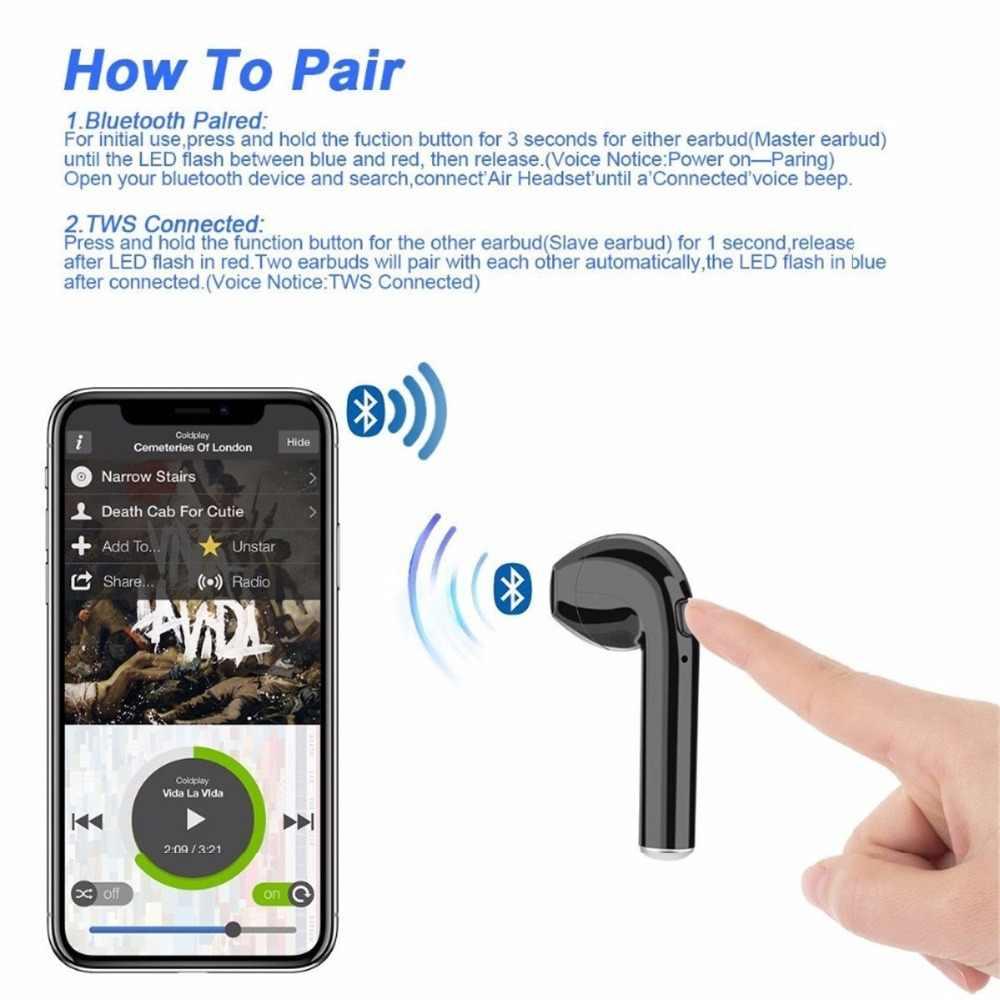 I7S TWS Bluetooth カラーパターンポータブル充電ボックスミニヘッドセット新カラフルなとのワイヤレスイヤホン
