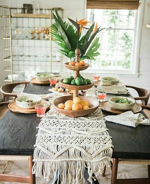Handmade Macrame Table Runner / Bohemia Handwork Decorations ...