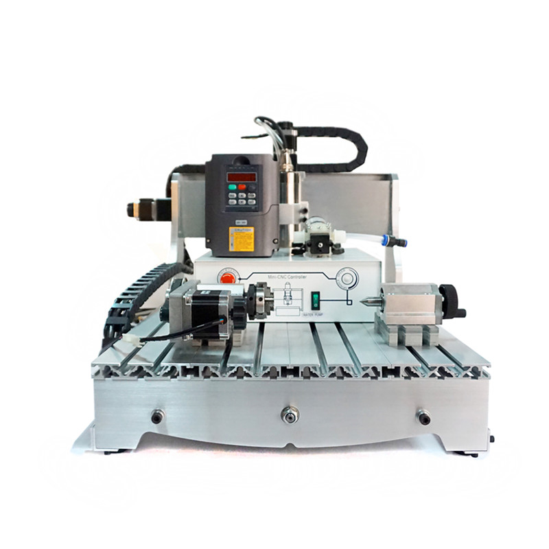 800W spindle 4axis cnc cutting machine 6040z work for wood cnc router eur free tax cnc 6040z frame of engraving and milling machine for diy cnc router