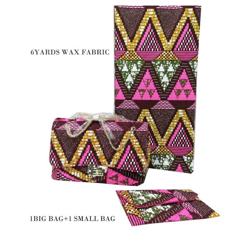 2019 African Tradition Ankara Bag And Cotton Fabric Set For Party Fashionable Handmade Handbag With Pretty Wax Fabric For Sewing2019 African Tradition Ankara Bag And Cotton Fabric Set For Party Fashionable Handmade Handbag With Pretty Wax Fabric For Sewing