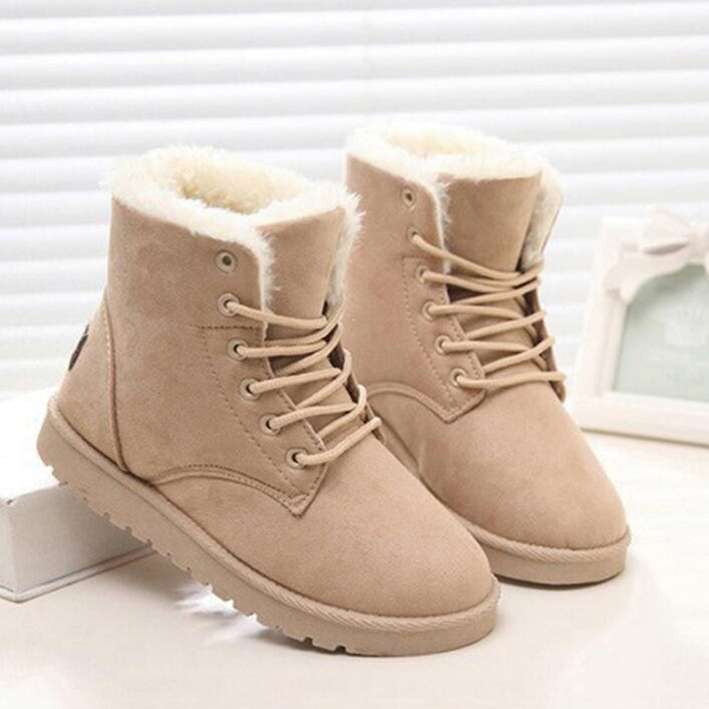 bota feminina women boots high quality winter shoes non-slip ankle boots women snow boots with plush botas mujer ...