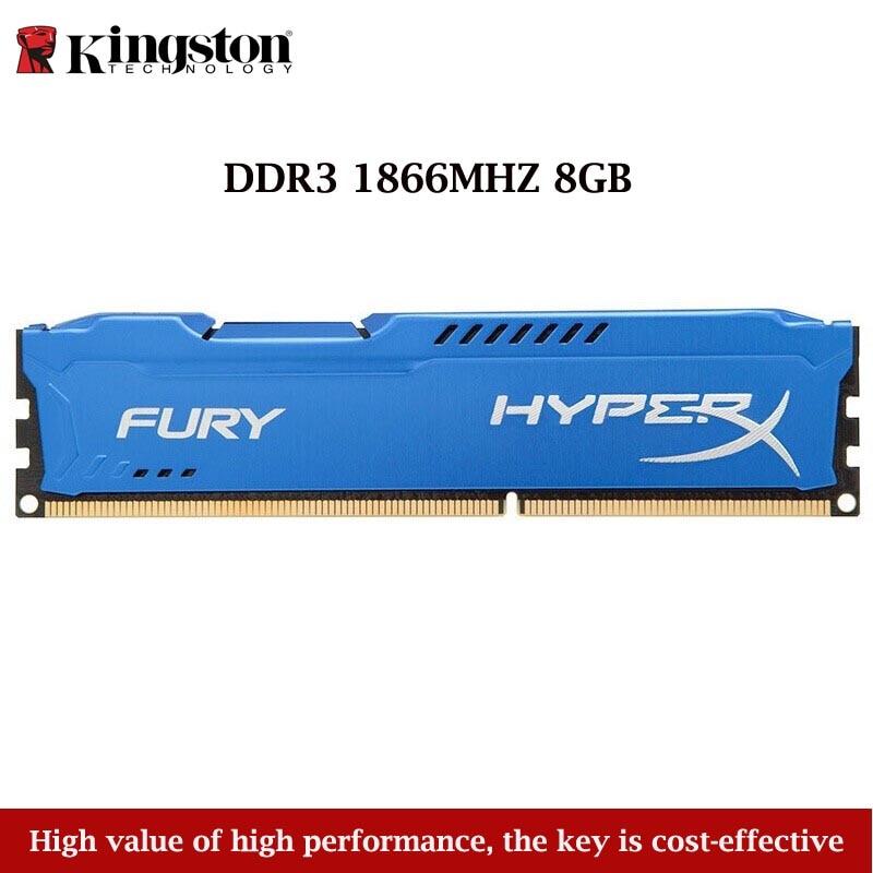 Kingston Technology Hyperx Fury 1PCS 8GB 1866MHZ DDR3 Memory Stick Ram For Desktop Computer Gaming Blue RAMS Dropshipping 2019