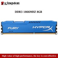 Kingston Technology Hyperx Fury 1PCS 8GB 1866MHZ DDR3 Memory Stick Ram For Desktop Computer Gaming Blue RAMS Dropshipping 2019
