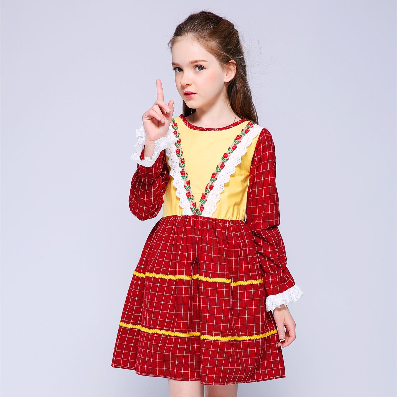 Kseniya Kids Spring Korean Princess Dress Baby Girl Clothes Girls