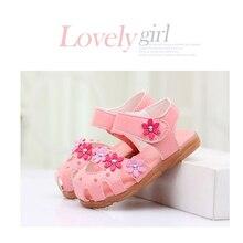 Дитячі сандалії взуття Fashion Causal плоскі дитячі сандалії літній квітка м'який нижній дитячі дівчата сандалі принцеси Sandalia Infantil